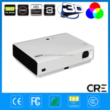 3800 lumen Yes Portable and Rear film screen free TV screen office&home LED DLP Style full HD 3D led projector