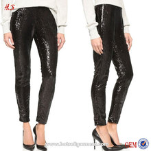 2016 Latest Leggings Pictures New Fashion Plaza Black Sequin Pants For Woman