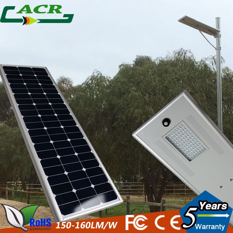 Cheap Freight green energy resource 80W all in one led solar street light with Photocell