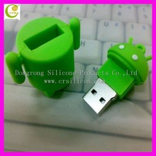 Personalized 2d/3d cartoon silicone usb ,cute3d shaped full silicone USB flash drive , silicone USB for promotional gift