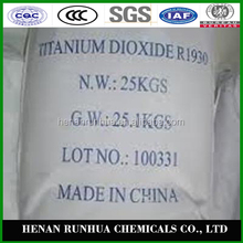 R-type and A-type industrial grade tio2 titanium oxide color coating in soulble in water