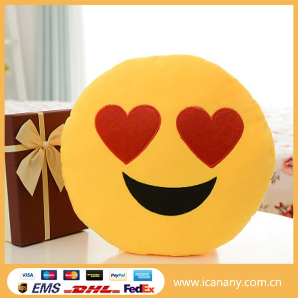 2016 New product pp custom emoji pillow cute smiley face soft toys poop plush emoji pillow for sale