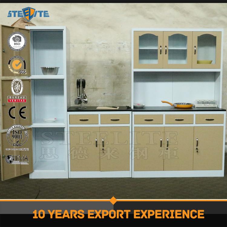 steel wooden mini kitchen cabinet metal kitchen sink base