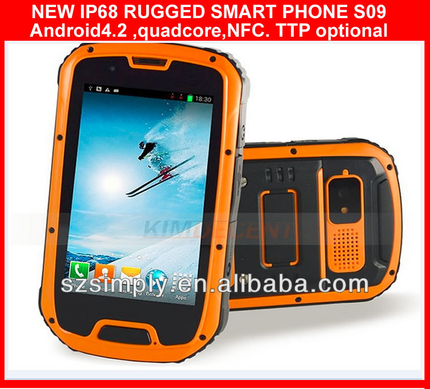 "IP68 android 4.2 telefonos celulares 4.3""GPS PTT. NFC optional"