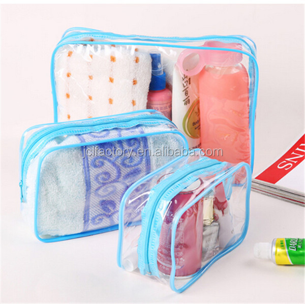 large toiletry clear cosmetic bags sets for travel