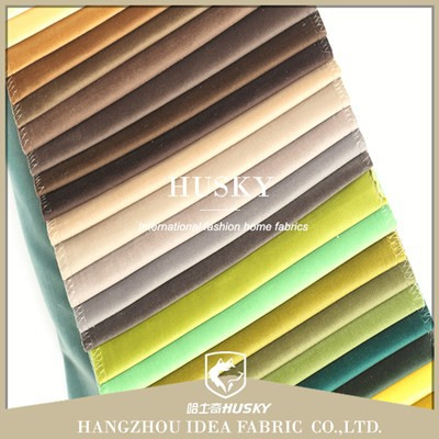 Plain style in stock items supply type high quality velvet fabric for home textile