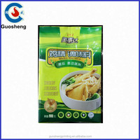 Chicken powder plastic packaging bag Gourmet Powder Packaging Plastic bag full printing semi foil laminated plastic bags