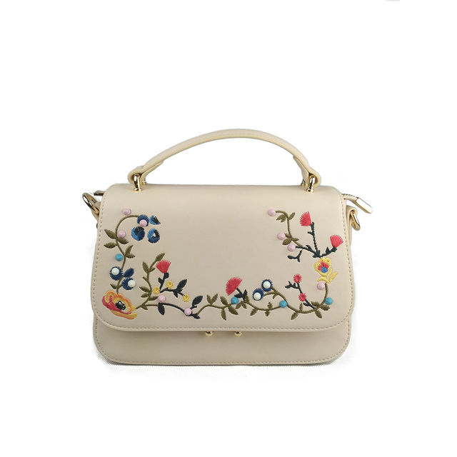 2017 New National Handbags trend embroidery bags flower embroidered shoulder bag for women