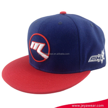 2017 new hip hop navy blue and red adjustable snapback caps wholesale