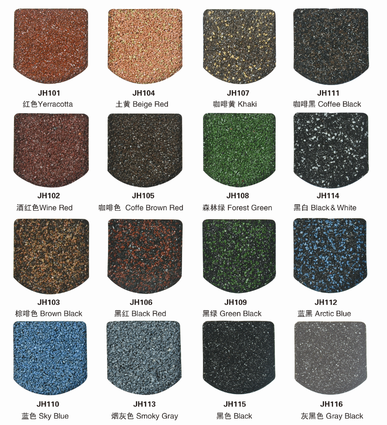 Building material for stone coated metal roofing tile