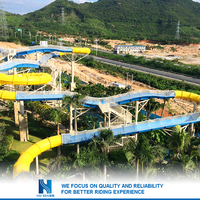 Water park equipment price and used fiberglass water slide for sale
