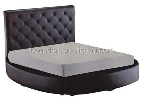 modern fashional soft bed designs fabric upholstered round bed BSD-450264