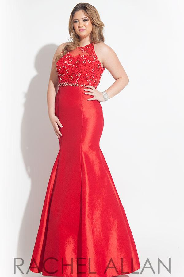 Buy Sexy Red Satin Long Mermaid Prom Dresses 2015 Plus Size Party