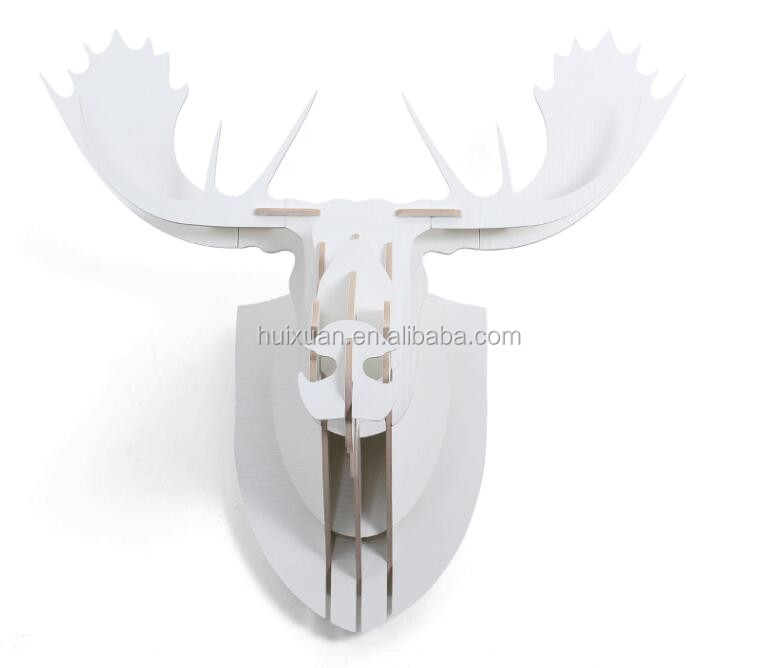 latest design wood craft moose head wall hanging decoration