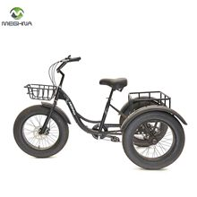 20 Inch Steel Frame Modern Cargo Rickshaw 3 Wheel Trike Snow Vehicle Adult Pedal Bike Tricycle