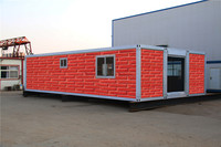 luxury waterproof eps sandwich panel for prrefab 40ft container house