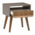 China Wholesale Rivet Mid-Century Lacquer Side Table, Grey and Walnut nightstand