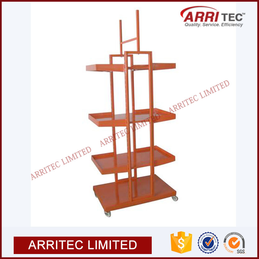 floor metal vegetable fruit bottle oil shelving storage restaurant kitchenmetal shelf rack