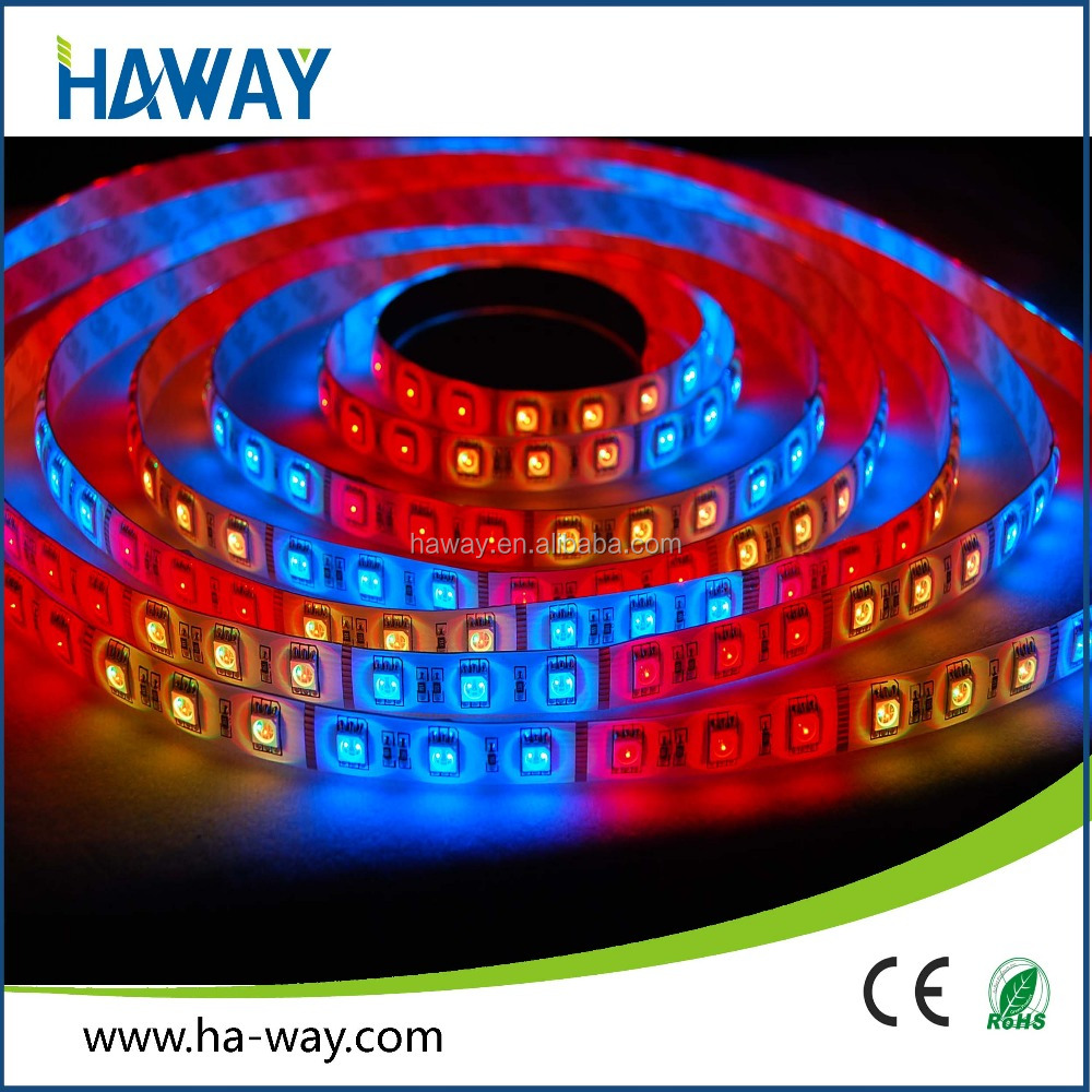 Hot Sale Waterproof RGB Led Strip 24V Flexible SMD5050 60 leds/M CE RoHS