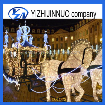 Yizhinuo Christmas Pumpkin Carriage with Led Lighted for sale