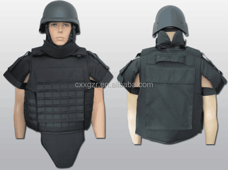 Full Body Armor Suit Army NIJ IIIA Body Suit Military Tactical Bulletproof Bullet proof Vest