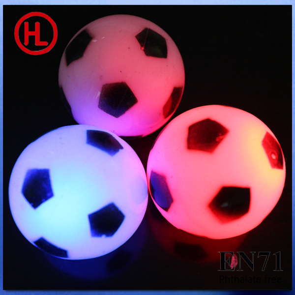 TPR LED glowing bouncing ball (football design)