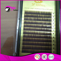 0.10mm Eyebrow Extensions I curl Brow lashes Black Brown color Single Eyebrow Extensions