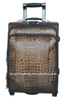 2014 NEW PU leather travel trolley case