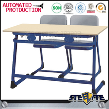 Modern Educational Furniture Classroom Plastic Double Desk and Chair