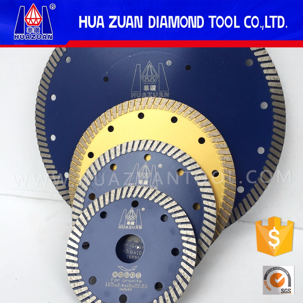 Huazuan hot pressed turbo segment diamond cutting saw blade