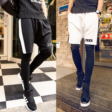 New arrival mens fashion black sport jogger short pants