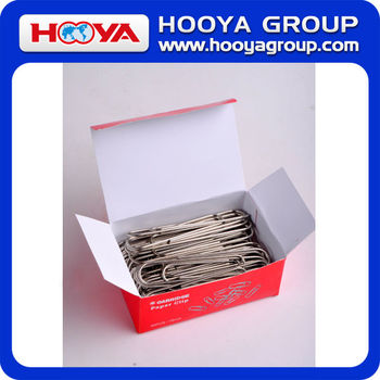 78mm wholesale stainless steel nickled silver round big metal paper clip