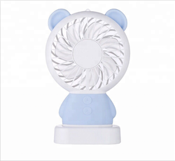 Cute Pocket Mini Personal Necklace Fan, USB Rechargeable Fan, Small Portable Fan with Colourful LED Light, 2 Adjustable Speeds