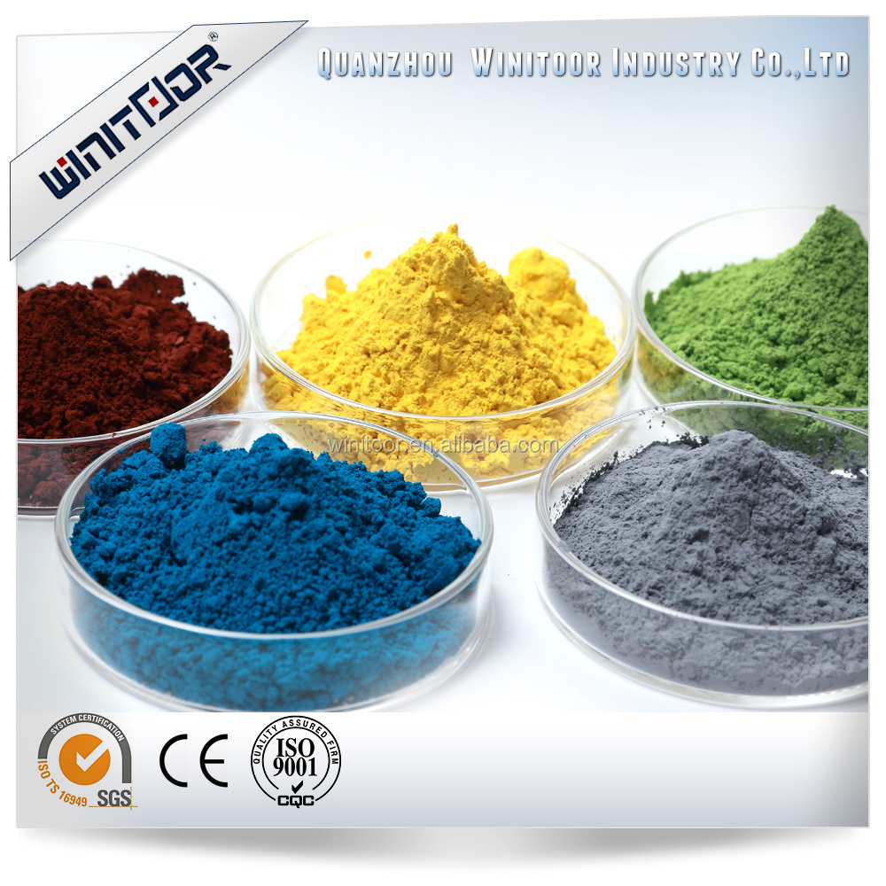 China best quality cheapest glitter iron oxide pigments for bricks