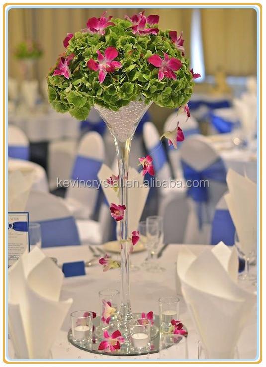 Tall Stemmed Martini Glass Vasehot Decoration For Wedding Tables