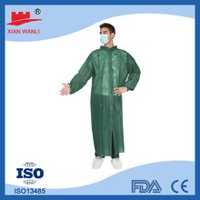 Lab Use Cheap Disposable Surgical Coats Visitor Coat