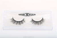 hot top quality customized packaging 3D real mink fur false eyelash