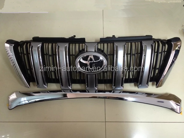auto accessories front chrome grille used for toyota land cruiser prado FJ150 2014