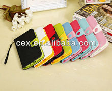 Colorful Cute PU Leather Wallet Type Magnet Design Flip Case Cover for Samsung Galaxy Mega 5.8 i9152 i9158