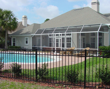 Simple wrought iron pool fence cheap cheap price