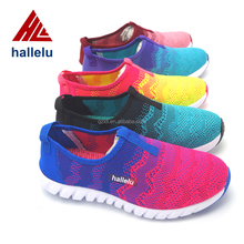 2016 Breathable Knit Woven Weave Knitted Shoe Uppers Fashion Sneaker Sports Shoes For Women