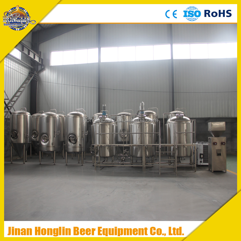 2000L Four vessels brewery equipment steam heating beer equipment 1000l fermenter
