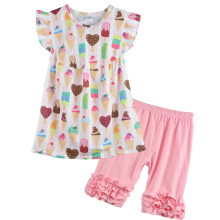 CONICE NINI brand three styles customized floral printing designer clothing children clothes boutique outfits