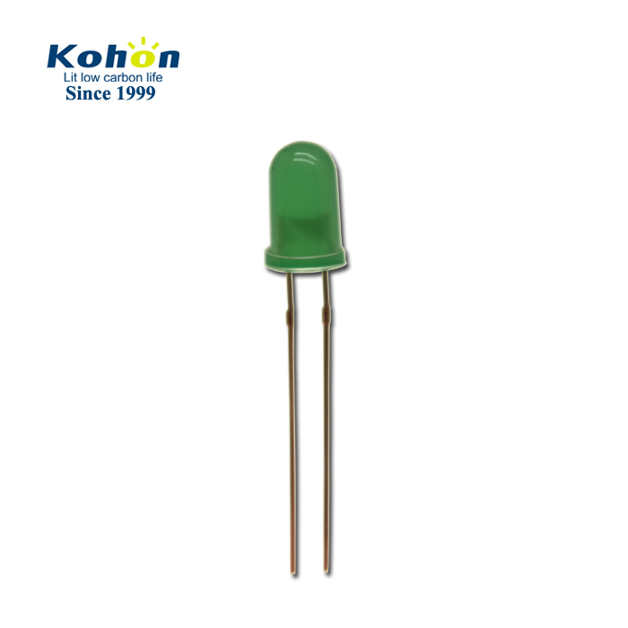 Round type yellow green color 5mm constant flashing flickering led diode kit