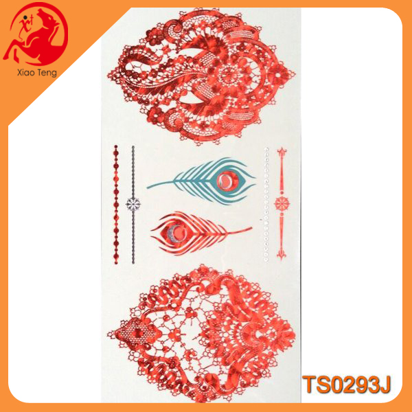 Body Gem Tattoos,Tattoo Body,Female Intimate TattoosRed Tattoo Sticker