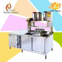 European Style Customized kitchen sushi bar counter top salad bar designs for Fastfood Restaurant