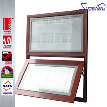 aluminium wood Composition built-in shutters custom thermal break aluminum awning windows