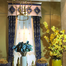 Wholesale customizable ready made jacquard chinese style window curtain