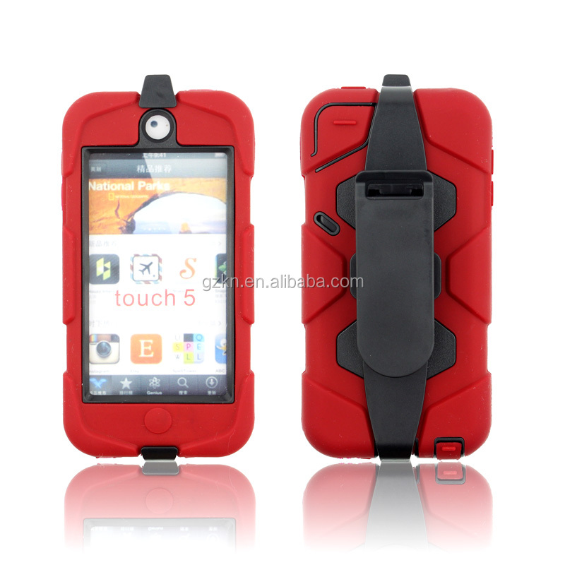 For iPod touch 6th Military duty shockproof case with belt clip