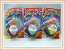 promotional flashing wind up toy cheap spinning top